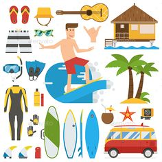 Surfing Trip Elements