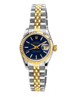 Women's Rolex Oyster Perpetual Date Just Stainless Steel & Gold Watch
