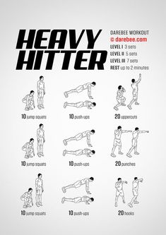 Heavy Hitter Workout Best Picture For Martial Arts Workout jiu jitsu For Your Taste You are looking Workout Mix, Kickboxing Workout, Workout Dvds, Insanity Workout, Workout Fitness, Mens Fitness, Fitness Tips, Strength Training For Beginners, Darebee