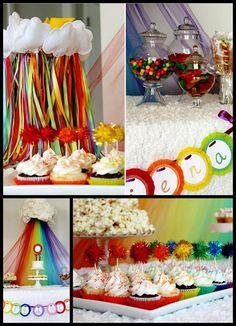 rainbow birthday party | Rainbow party 11