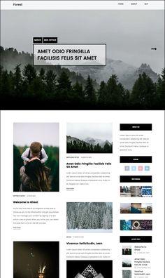 Forest Blog Ghost Theme by Malvouz on @creativemarket
