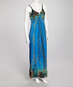 Take a look at this Blue Tamica Dress by Bacci on #zulily today!
