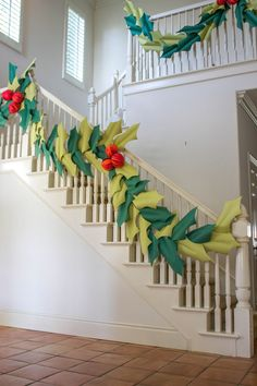 The House That Lars Built: Over-sized holly & berry paper garland