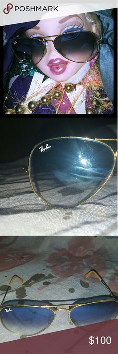 Raybans, authentic side writing to prove it Raybans in good quality NOT NEW 2 small scratches on lens but still very cute and willining to negotiate on a price Ray-Ban Accessories Sunglasses
