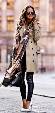 d2a9fb27d5f930  winter  outfits gray trench coat Trench Coat Dress