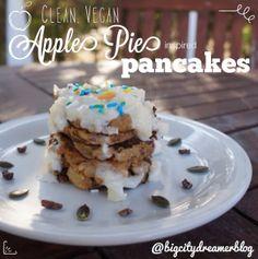 Clean apple pie pancakes