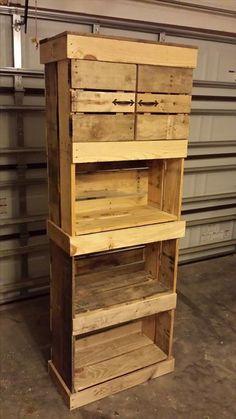 Pallet #Storage Tower - 125 Awesome DIY Pallet Furniture Ideas | 101 Pallet Ideas - Part 10
