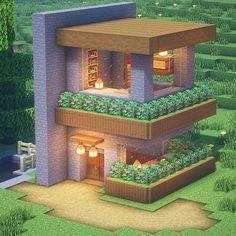 Minecraft Mansion, Minecraft Cottage, Easy Minecraft Houses, Minecraft House Tutorials, Minecraft Room, Minecraft Plans, Minecraft House Designs, Minecraft Decorations, Amazing Minecraft