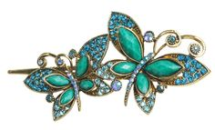 Sparkle Green Vintage Crystal Butterfly Bowknot Hairpin Hair Stick Hair Clips Hair Beauty Tools * Details can be found by clicking on the image.