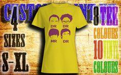 Womens Dr Dr Mr Dr vinyl press Tshirt sizes s-xl by customprintuk