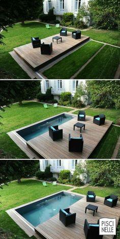 De ideale oplossing: terras én zwembad. www.tablazz.nl #zwembad #pool #vloer #terras #tuin