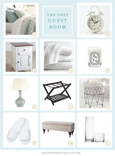The Cozy Guest Room: Decorating Ideas from the blog. #guestroom