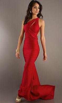 Floor Length One Shoulder Dress at SimplyDresses.com