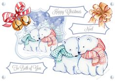 A lovely soft christmas image, file contains a quick card, seperate elements, 17 different sentiments with one blank, TOU also included.