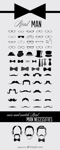 Free Icons mustaches