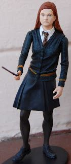Chocolate Covered Action Figures: Harry Potter and The Half-Blood Prince: series Ginny Weasly Harry Potter Action Figures, Ginny Weasly, Harry Potter Miniatures, Dive, Half Blood, Chocolate Covered, Fashion Dolls, Barbie Dolls, Horror