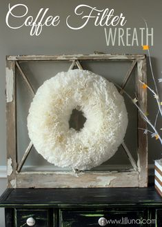Coffee Filter Wreath SUPPLIES: - Foam Wreath (whatever size you want to make it) - Coffee Filters - Hot Glue Gun and Glue Sticks - Pen/Sharpie - Fishing Wire (fo...