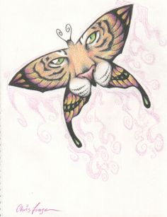 White tiger butterfly tattoo bucket list pinterest for Tiger face in butterfly tattoo