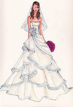 strapless tiered wedding dress http://www.yesmybride.net/gallery/sketches