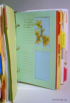 Beautiful way to create a nature journal for pressed flower or leaf collections.