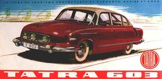 1959 brochure for the fabulous Tatra an aircooled super saloon from Czechoslovakia. American Graffiti, Bratislava, Vintage Ads, Vintage Posters, Vintage Advertisements, Harrison Ford, Car Brochure, Car Posters, Car Advertising