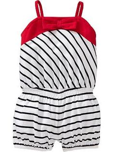 somebody please buy this for my child! so cute! Striped Bow-Tie Rompers for Baby   Old Navy