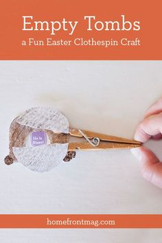 Use this fun empty tombs clothespin craft to help your children remember that…
