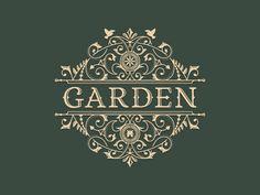 Garden - Decorative, vintage logo (by JC Desevre).