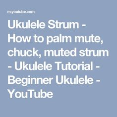 This is a ukulele strum video, but it's not a strum pattern. This video is dedicated to a strum technique where you are muting your strum as you play, known . Singing Lessons, Singing Tips, Music Lessons, Guitar Lessons, Ukulele Songs Beginner, Uke Songs, Banjo Ukulele, Cool Ukulele, Music Chords