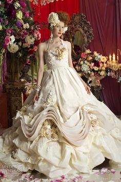 rococo wedding dress stella libero - marie antoinette inspired gowns