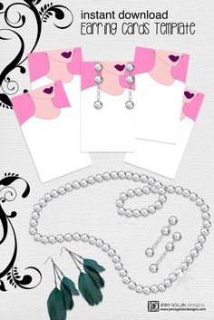 earring cards printable template