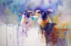 The Magic of Watercolour Painting Virtual Gallery - Jean Haines, Artist - Sheep