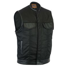 This high-quality textile vest is your go-to for every season. Made from top-grade textiles, this vest is your perfect motorcycle get up for its comfort and style. Motorcycle Vest, Biker Vest, Biker Jackets, Smart Textiles, Holsters, Zipper, Art Work, Patches, Leather