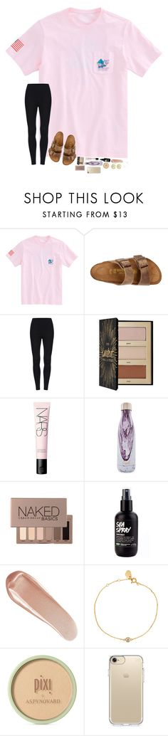 """it's my birthday:)"" by hopemarlee ❤ liked on Polyvore featuring Vineyard Vines, Birkenstock, Sephora Collection, NARS Cosmetics, S'well, Urban Decay, Estella Bartlett, Pixi, Speck and Initial Reaction"
