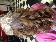 Wedding hair half up, but without the flower