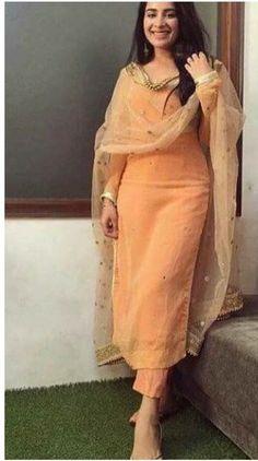 indian designer wear Details about silk kameez punjabi pant salwar party wear indian pakistani stitched suit M L XL Salwar Suits Party Wear, Party Wear Indian Dresses, Punjabi Salwar Suits, Indian Fashion Dresses, Dress Indian Style, Indian Salwar Kameez, Indian Suits Punjabi, Pakistani Suits, Salwar Pants