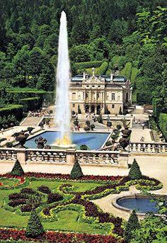 Gardens of Linderhof Castle , Germany