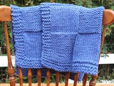 Keep your little man cozy this winter with this Knit Blue Checkered Baby Blanket by 'StitchHappensHere' on Etsy, only $40!  Makes great X-mas present or baby shower gift!