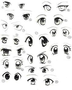 Learn to draw eyes eye drawings manga eyes, anime eyes и how Anime Drawings Sketches, Pencil Art Drawings, Anime Sketch, Cartoon Drawings, Eye Drawings, Girl Eyes Drawing, Manga Drawing, Drawing Tips, Anatomy Drawing