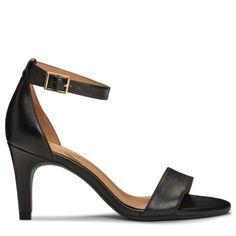 6c627a68400fc Aerosoles Women s Laminate Dress Sandals (Black Leather) Aerosoles