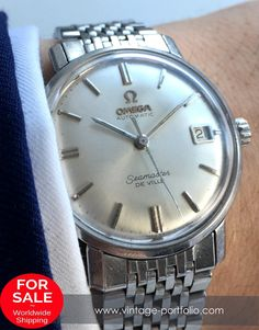 50 Jahre Jubiläumsuhr ! Serviced Omega Seamaster Automatic De Ville, Steel, with Date 1966