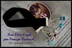 Marque - pages noir gothique signet velours perle et cristaux turquoise, cristal d'acrylique clair, croix, cadeau anniversaire, noël, étude