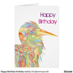 Shop Happy Birthday birthday card created by EvaBgreetingcards. Birthday Greeting Cards, Birthday Greetings, It's Your Birthday, Happy Birthday, Special Day, Watercolour, Colours, Painting, Happy Brithday