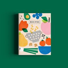 Kids Graphic Design, Graphic Design Inspiration, Graphic Prints, Type Illustration, Food Illustrations, Recipe Book Covers, Packaging Design, Branding Design, Cookbook Design