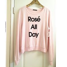 •WILDFOX• Rosé All Day New with tags Wildfox Tops Sweatshirts & Hoodies