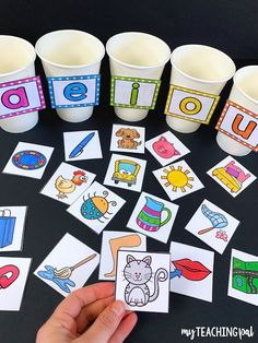 Phonics and Alphabet Centers Short Vowel CVC sound sorting activity. Students sort the CVC pictures by their middle sound. Preschool Learning Activities, Alphabet Activities, Teaching Kids, Interactive Activities, Short Vowel Activities, Letter Sound Activities, Phonemic Awareness Activities, Diy Pour Enfants, Kids Education