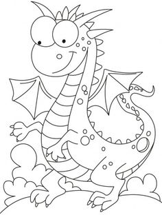 Comparatively a kind looking dragon coloring pages Make your world more colorful with free printable coloring pages from italks. Our free coloring pages for adults and kids. Animal Coloring Pages, Coloring Book Pages, Printable Coloring Pages, Animal Templates, Templates Free, Lilo E Stitch, Dragon Coloring Page, Cute Dragons, Digi Stamps