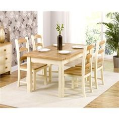 Albans pine dining table and chairs are crafted from solid pine with a cream painted finish. Corner Kitchen Tables, Small Kitchen Table Sets, Pine Dining Table, Kitchen Table Chairs, Kitchen Benches, Dining Room Sets, Dining Room Table, Table And Chairs, Kitchen Dining