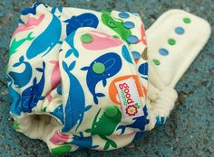 We Love Whales One-Size Fitted Diaper by thegoodmama.com, via Flickr