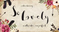 Buy and download So Lovely, font by Emily Spadoni. So Lovely is available as a desktop and a web font.
